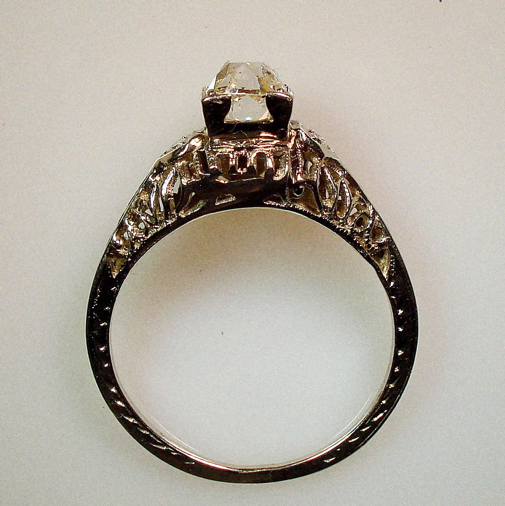 1890 victorian engagement rings victorian 18karat white gold and mine cut - Victorian Wedding Rings