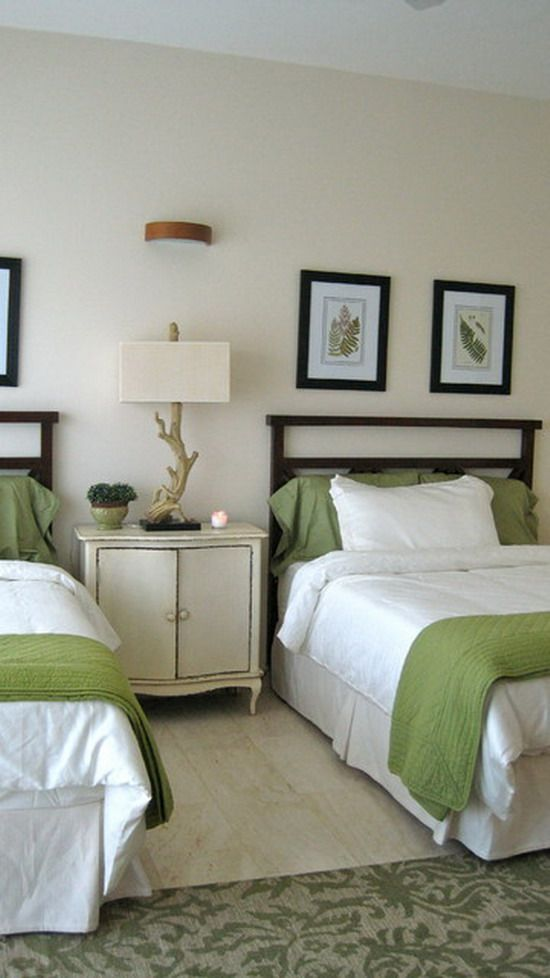 Small Bedroom Ideas In White And Green Modern Designs For Relax