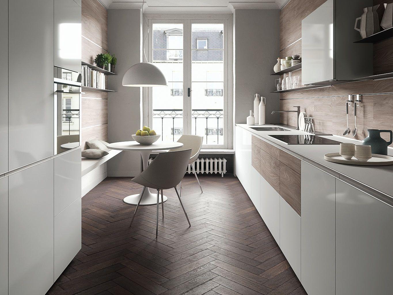 Las diez cocinas de moda granito el dise o y puros - Cocinas estrechas ...