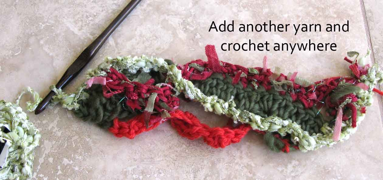 Carla\'s Freeform Crochet Scarf Tutorial   Freeform crochet, Crochet ...
