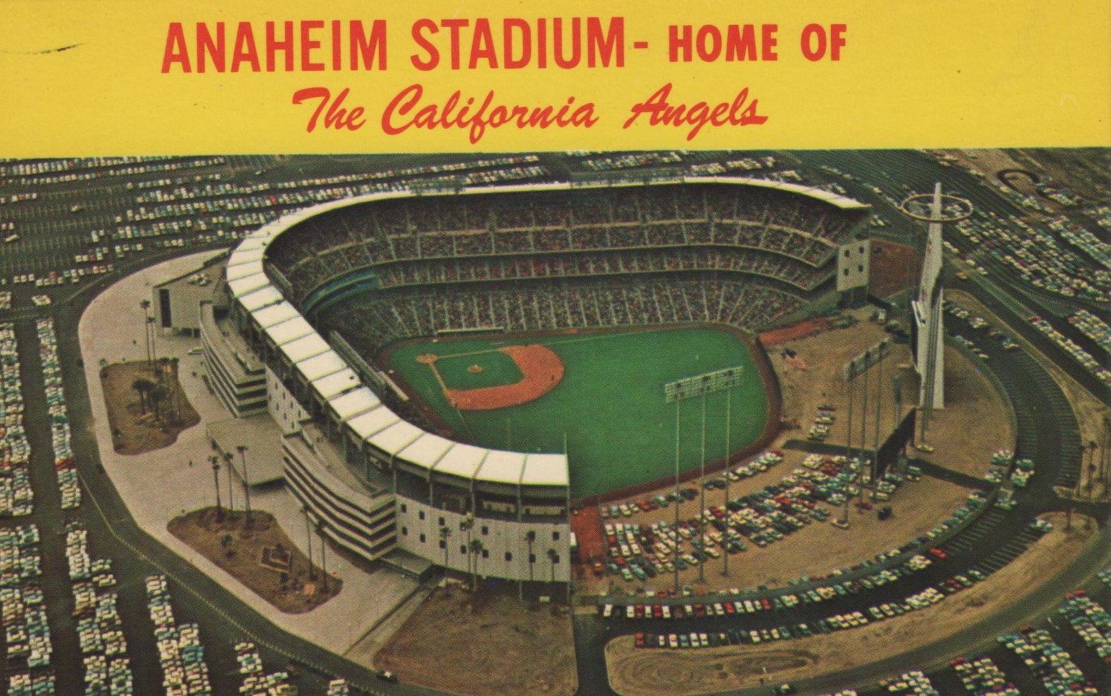 Old postcard. Hagins collection. Anaheim angels baseball