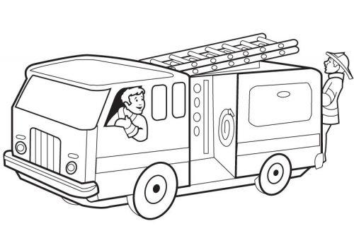 Coloring Page Firetruck Caminhao De Bombeiros Paginas Para