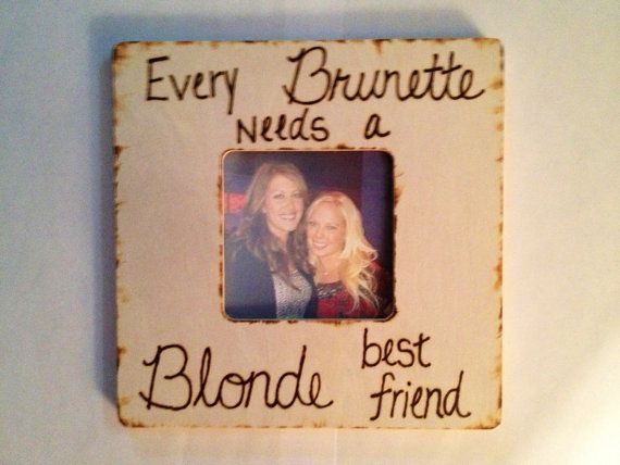 blonde and brunette best friends frame by creativecraftsbycc