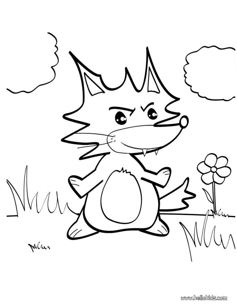 Cute Little Fox Coloring Page More Forest Animals Coloring Sheets