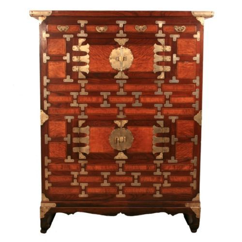 Antique Korean Chosun PD Satinwood Inlaid Personal Clothing Tall Chest Cabinet | eBay