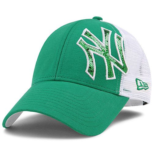 83769adcc48ea New York Yankees Women s St. Patrick s Day Sequin Shimmer 9FORTY Adjustable  Cap by New Era - MLB.com Shop