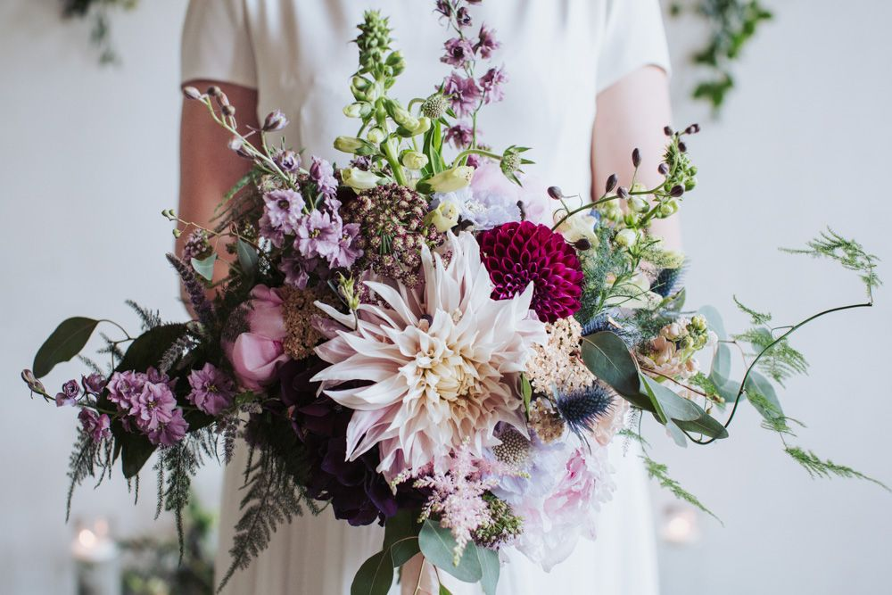 Wedding Aisle Flowers With Dahlias Peonies And Foliage At The