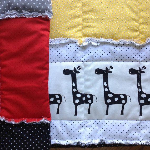 Baby Quilt Pattern Crib Size Quilt Rag Quilt By Tinylittledots2