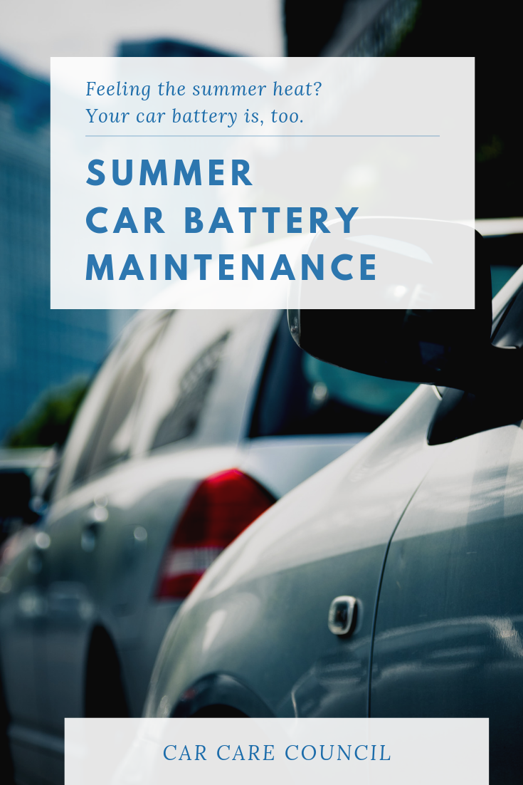 The summer heat can be hard on your car's battery. Car