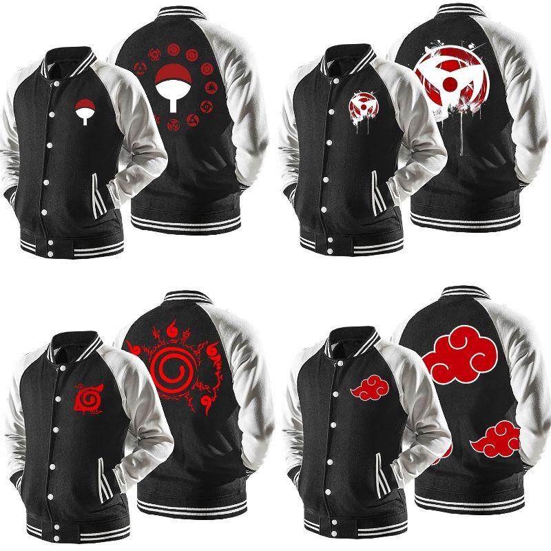 Naruto black varsity jackets 4 models stylish bomber