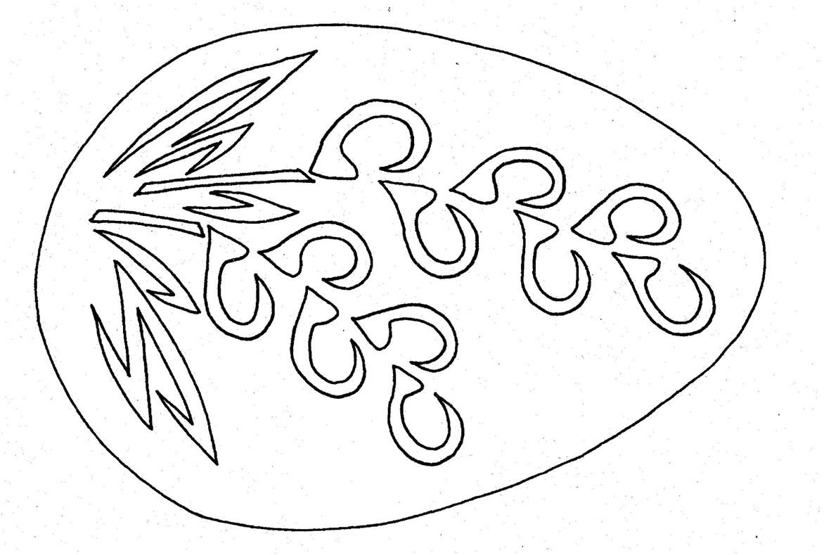 Jajko Wycinanka Egg Shell Art Christmas Tree Stencil Egg Art