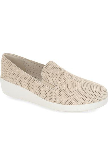 48f6315a7f7 FitFlop™  F-Pop Skate  Perforated Wedge Sneaker (Women) available at ...
