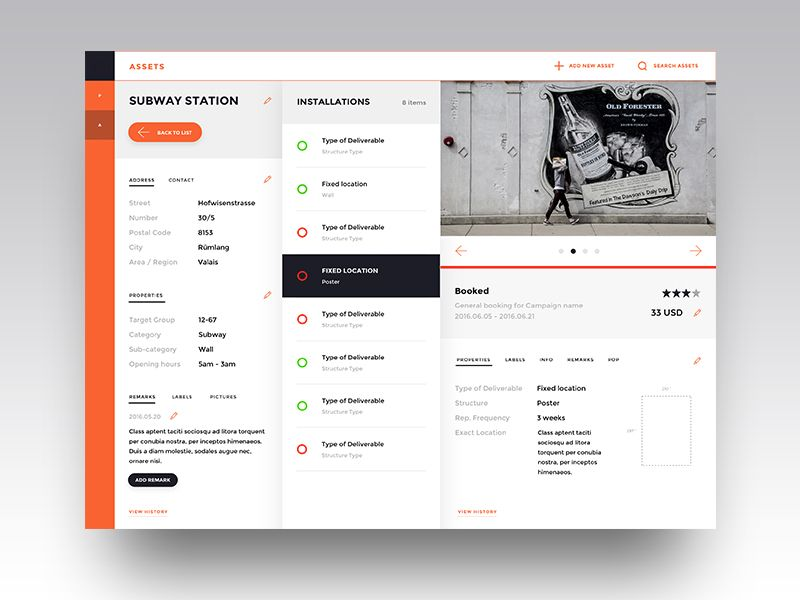 dashboard of inventory management asset view Management, Ui ux - asset inventory template