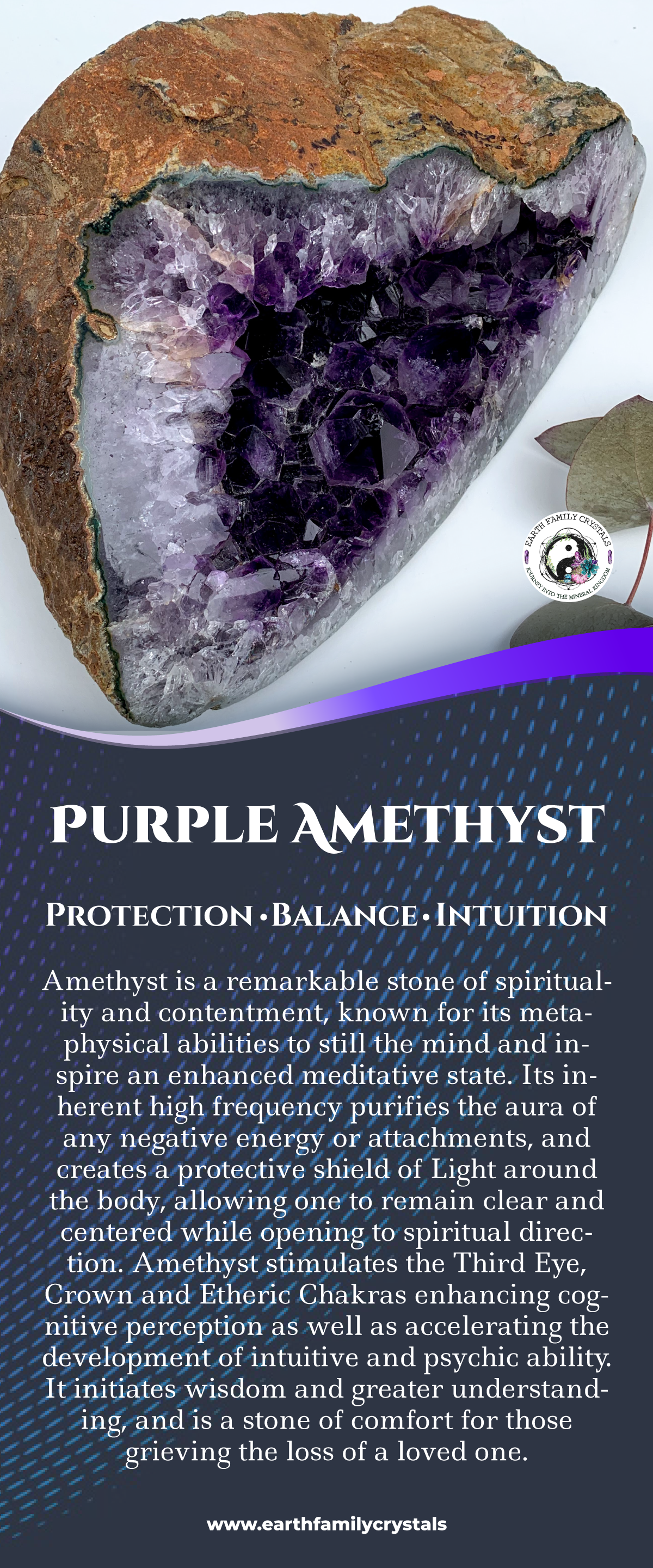 Search Results Purple Amethyst Crystal Necklace Healing Crystal Healing Stones