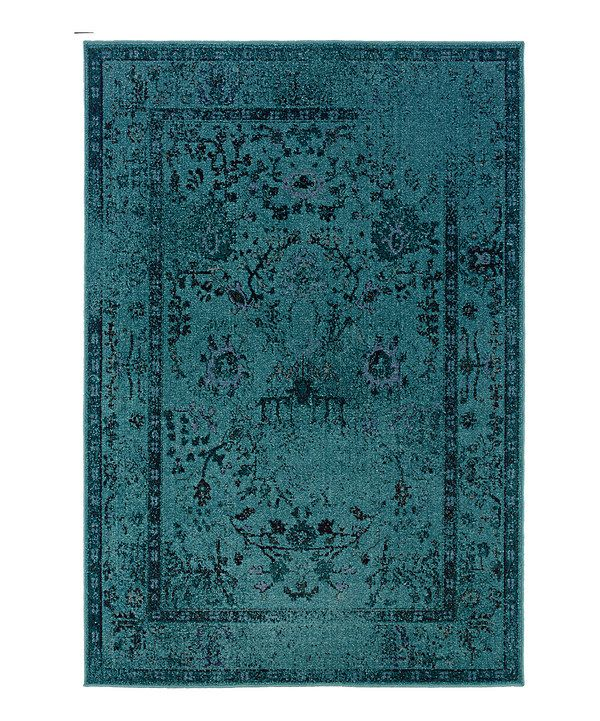Look At This Zulilyfind Teal Ornate Renaissance Rug By