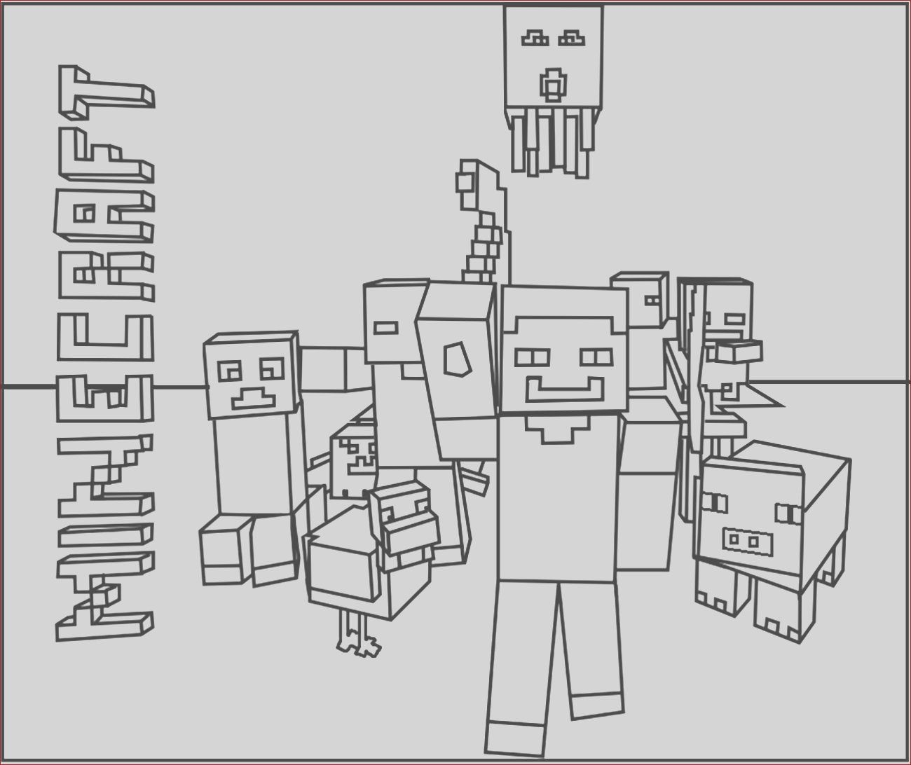 14 Awesome Photos Of Minecraft Coloring Page Minecraft Coloring Pages Printable Coloring Pages Coloring Pages For Kids