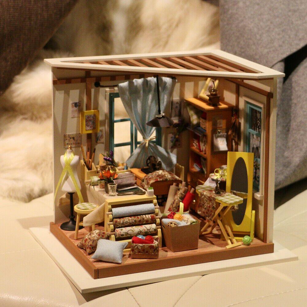 Diy miniature dollhouse exquisite mini house and eco