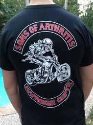 sons of arthritis ibuprofen chapter t shirt products. Black Bedroom Furniture Sets. Home Design Ideas
