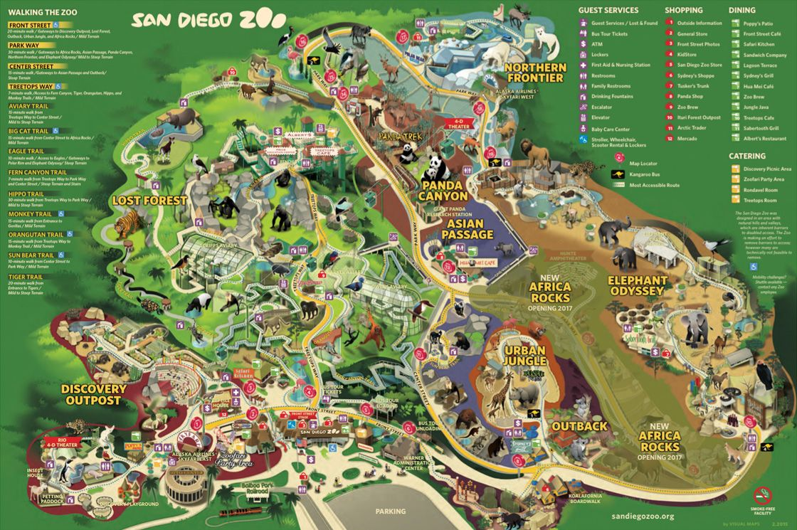 Pin By Kimberly Le On Going Somewhere Visit San Diego San Diego Zoo Zoo Map