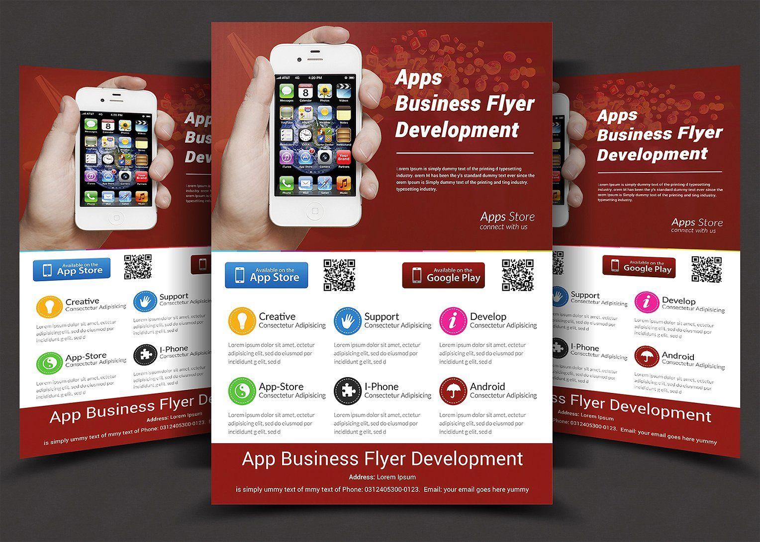 app flyers cmyk dpi completely ready design art pinterest