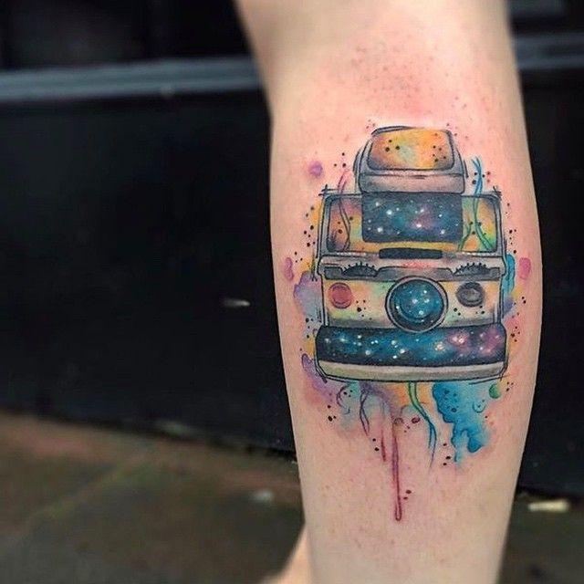 Polaroid Sx 70 Tattoo Coverup Tattoos Occult Tattoo Cool Tattoos