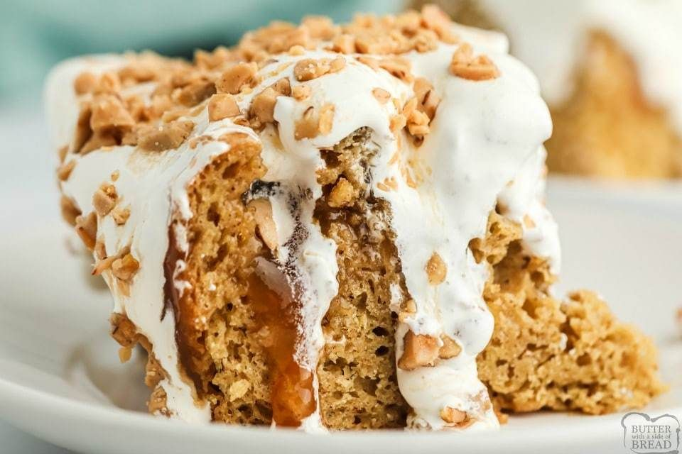 Caramel apple poke cake in 2020 recipes using cake mix