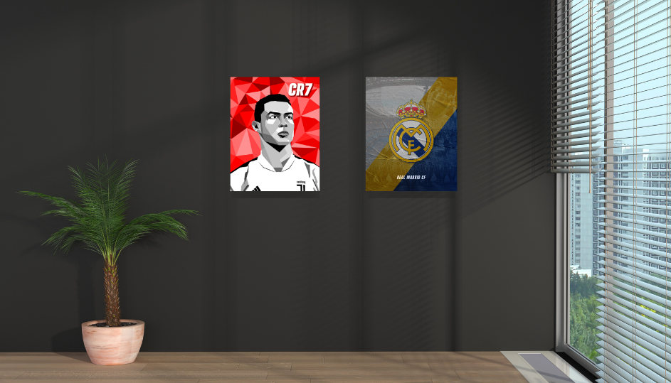 Where was Cristiano the best❓ Perfect for decorating any wall space available. Surely what every soccer fan needs! Soccer art / high-quality canvas print / Passion and style captured in color. #gifts #giftsforboyfriend #giftsfordad #soccer #football #futbol #fussball #messi #ronaldo #homedesign #homedecorideas #homedecoration #wallartprint #wallartdecor #artwork #art
