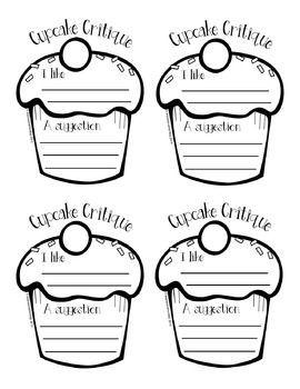 Peer Feedback Activity: Cupcake Critique | H.S. Art Project Ideas ...