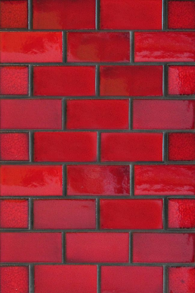 Firehouse Red Subway Tile Like A Modern Red Brick We Are Loving It