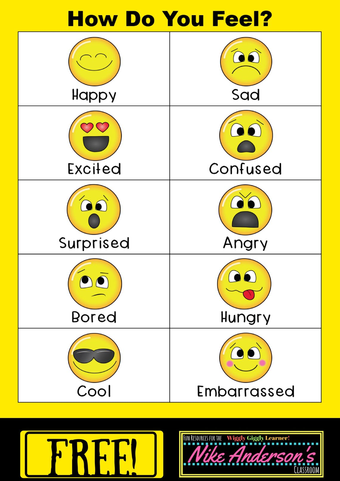 How Do You Feel Chart For Kidss