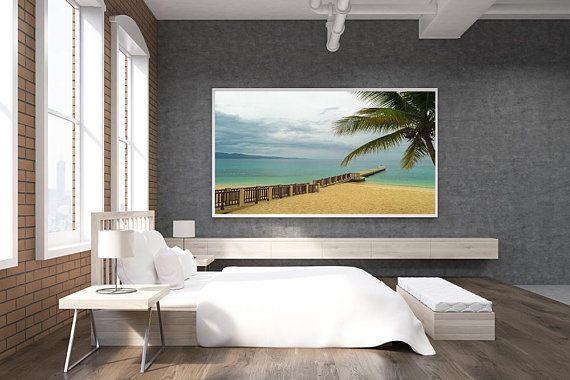 Cloudy Beach Day Print Only Jamaica Beach Montego Bay