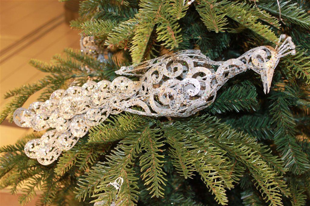 Ptak Paw Na Choinke Ozdoba Srebrny Chonka 4840498814 Oficjalne Archiwum Allegro Christmas Ornaments Holiday Decor Novelty Christmas