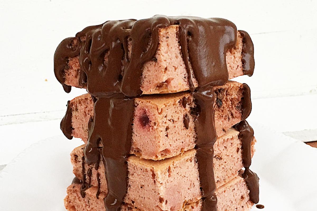 Pancake alla Barbabietola e Cioccolato Fondente.
