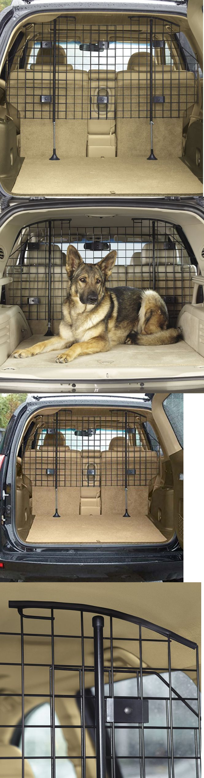 Car seats and barriers suv pet barrier car dog extendable