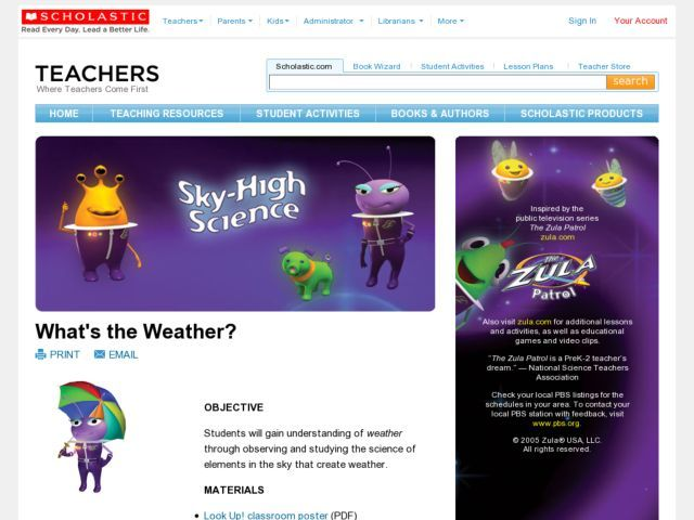 What S The Weather Lesson Plan Weather Lessons Weather Lesson Plans Teaching Weather