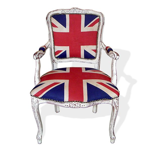 Vintage Union Jack Upholstered Armchair | Upholstered arm ...