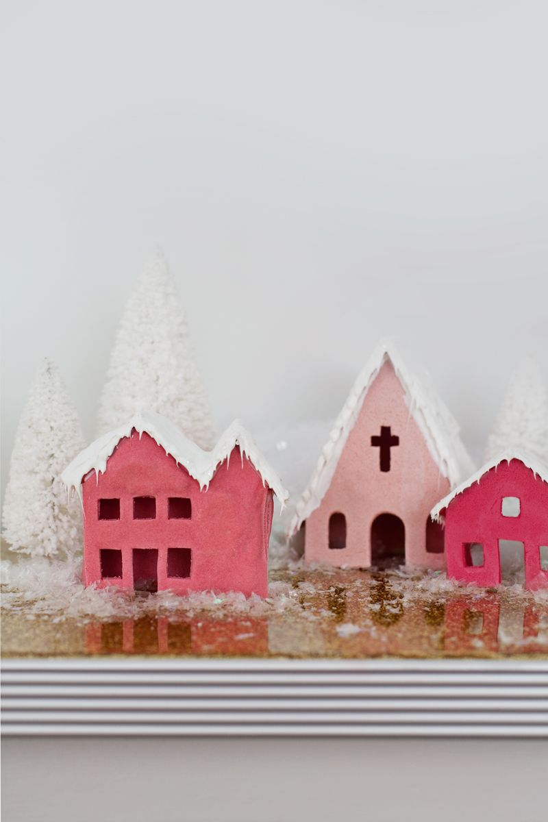 vintage putz-inspired salt dough houses— click through for printable ...