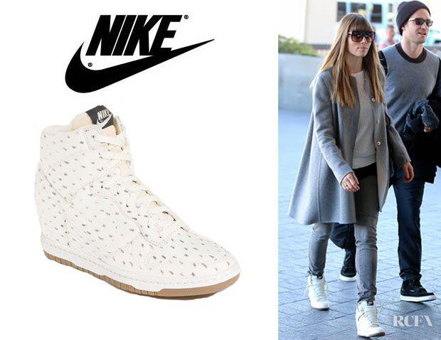 Jessica Biels Nike Dunk Sky Hi Wedge Sneakers