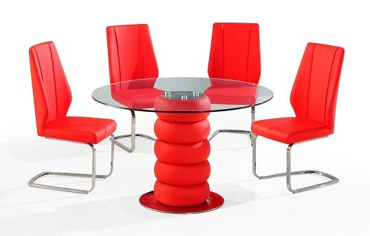Majuba Red Dining Table With 4 Chairs Cheap Dining Tables
