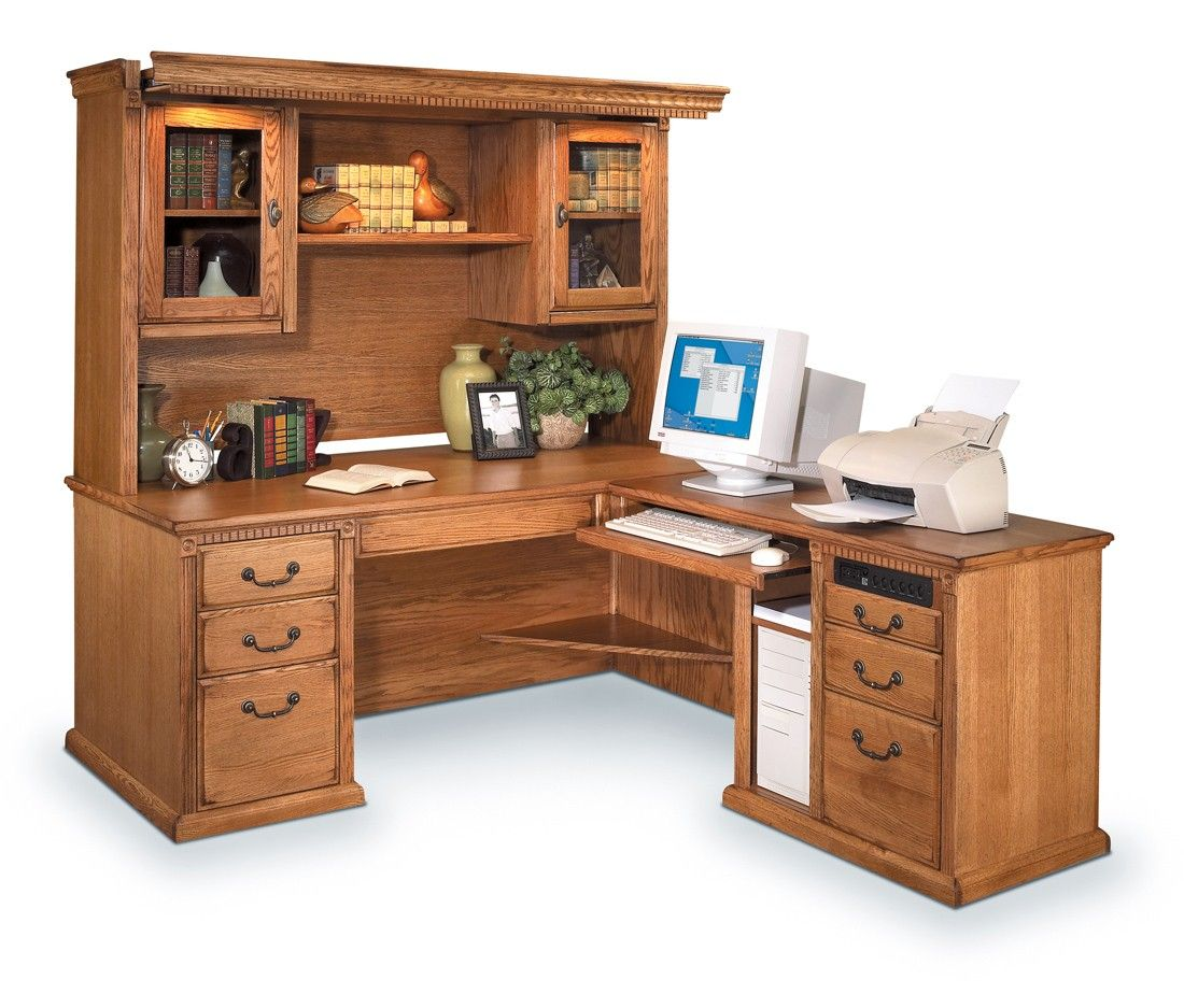 computer home with solid office s wood ebay traditional itm hutch desk amish furniture