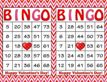 image relating to Printable Bingo Chips named Crimson Crimson Chevron Valentines Working day Bingo - 100 Printable Bingo