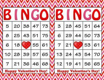 photo relating to Printable Bingo Chips known as Crimson Crimson Chevron Valentines Working day Bingo - 100 Printable Bingo