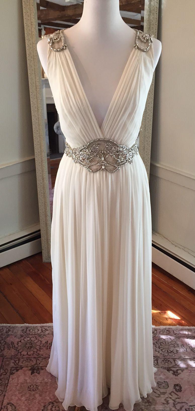 Used Jenny Packham Daphne Wedding Dress Size 12 1 500