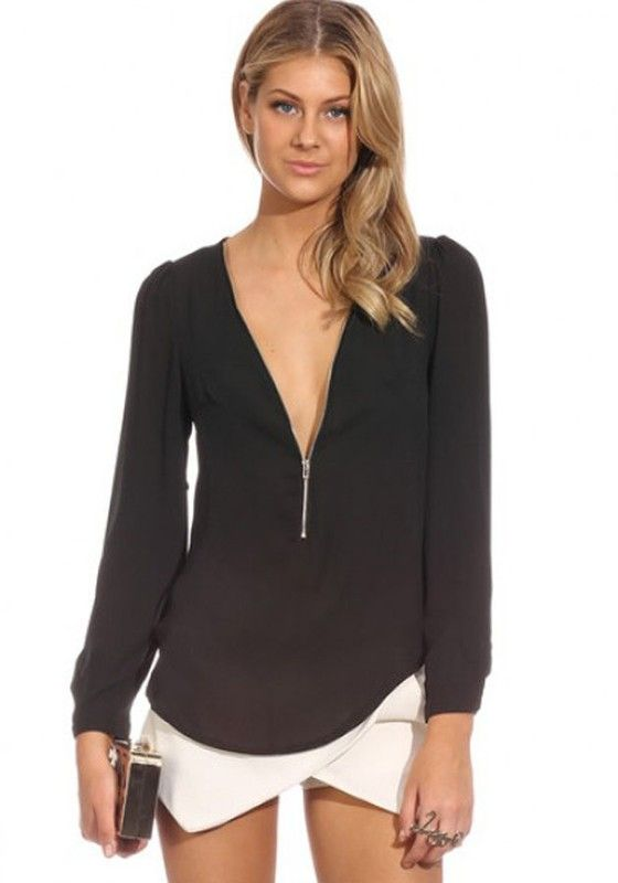 Black blouses for women sexy