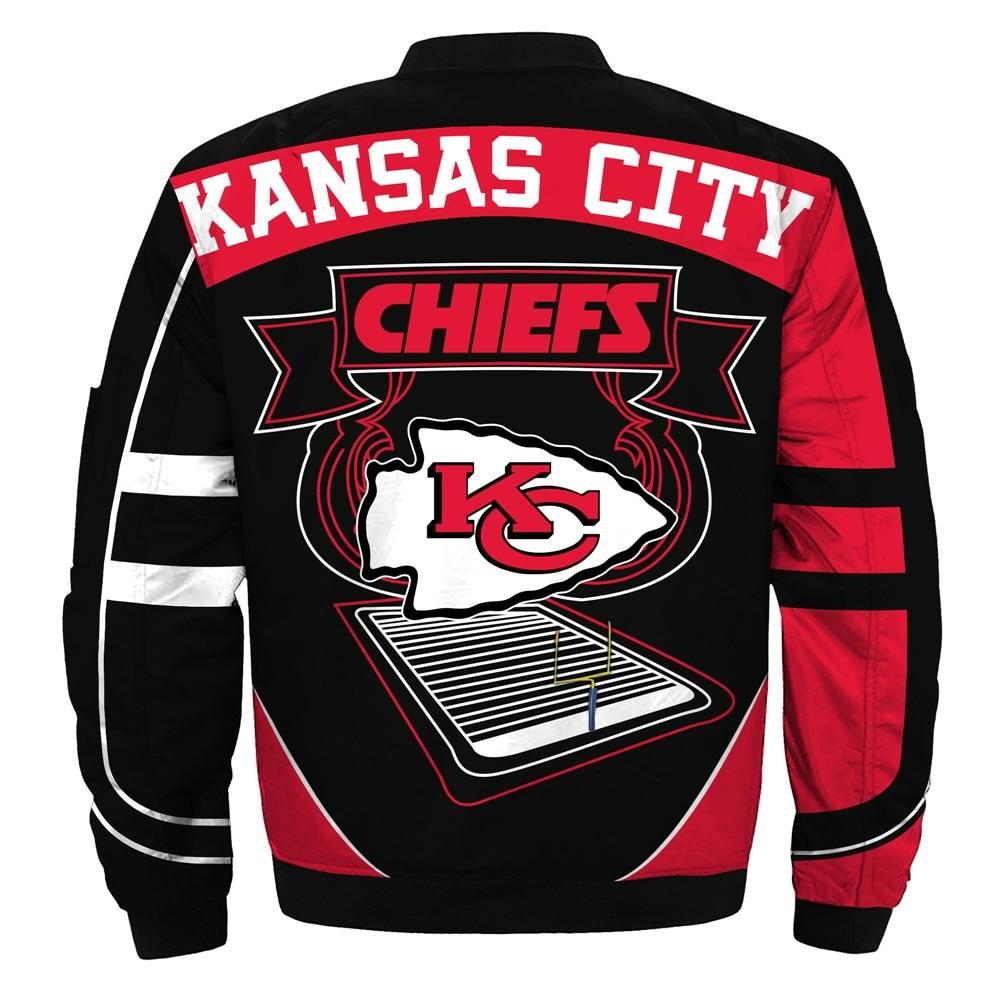 Newest Nfl Bomber Jacket Custom Kansas City Chiefs Jacket Cheap Kansas City Chiefs Apparel Bomber Jacket Cheap Kansas City Chiefs [ 1000 x 1000 Pixel ]