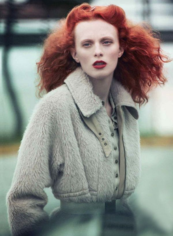 Always love a dramatic head of red hair.