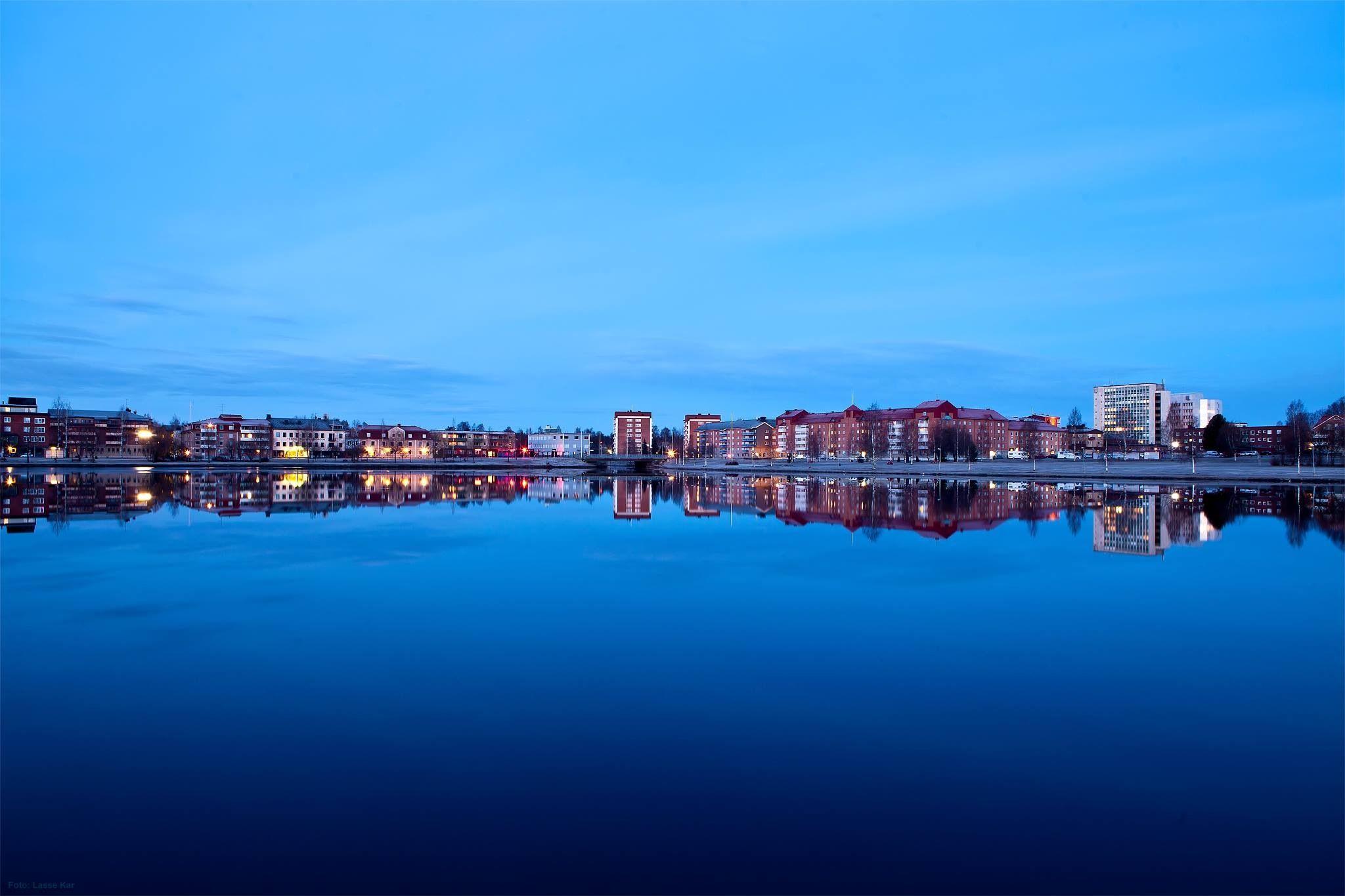 Boden en tidig morgon ,foto Lasse Kar