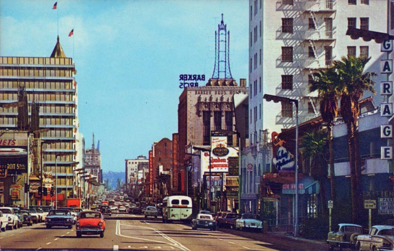 Hollywood Boulevard 1960s Old Hollywood Hollywood