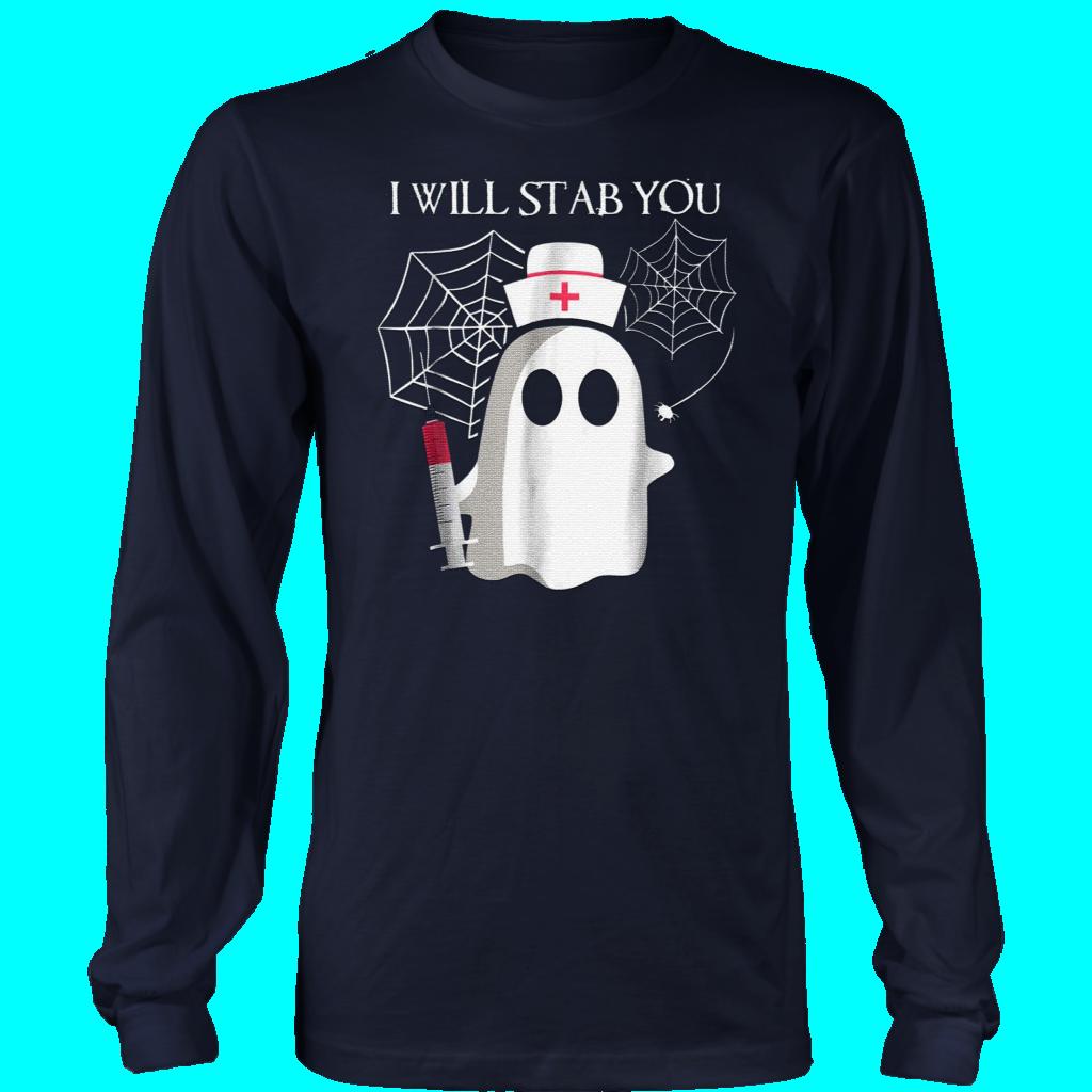 Nurse Ghost Halloween Costume Shirt I'll Stab You TShirt