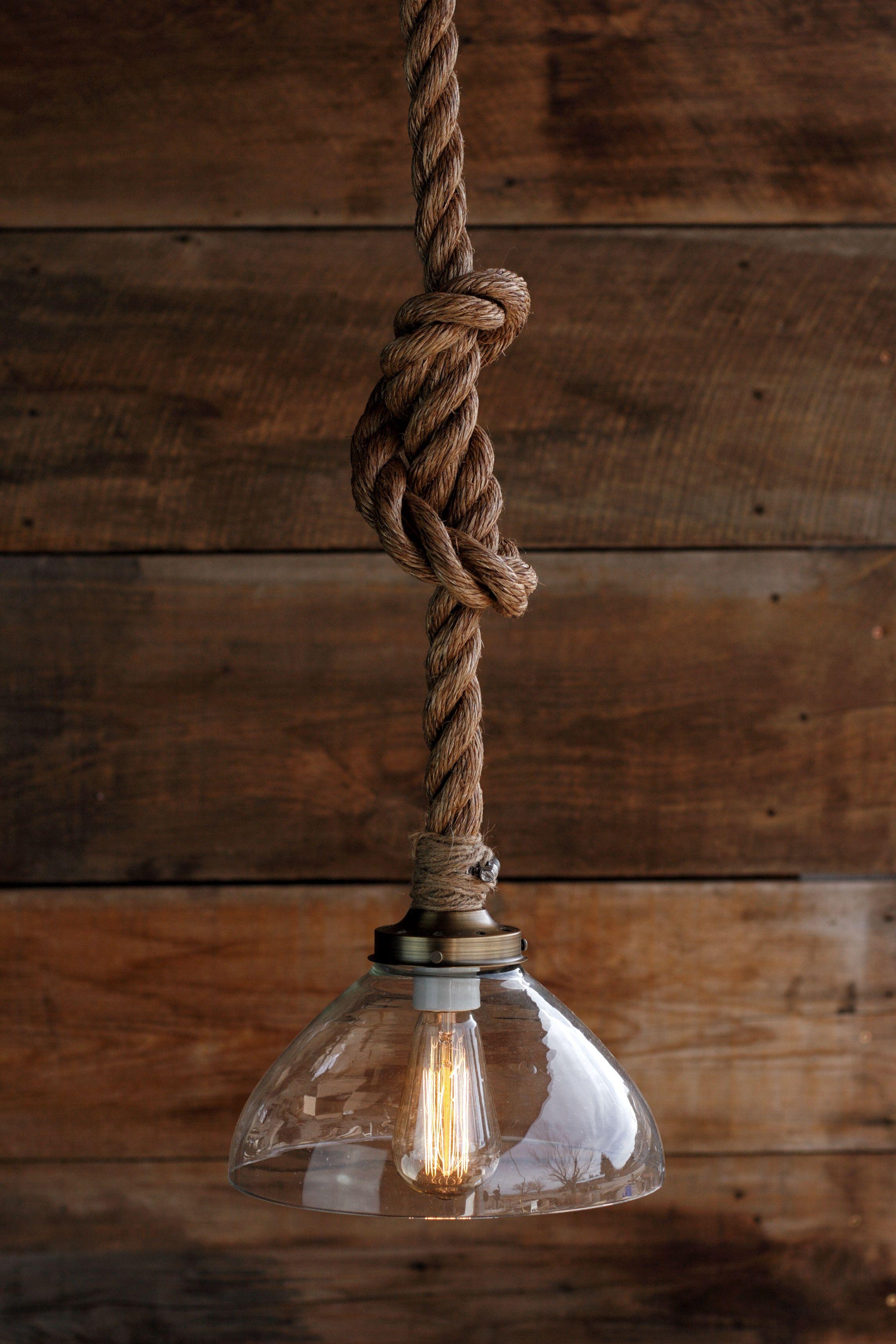 The Prestige Glass Pendant - metal Hanging Rope pendant ...